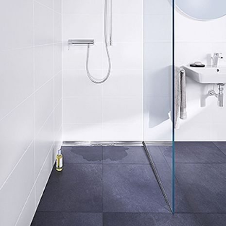 "Modern design and easy cleaning: Dallmer presents the ""Pure"" shower channels"