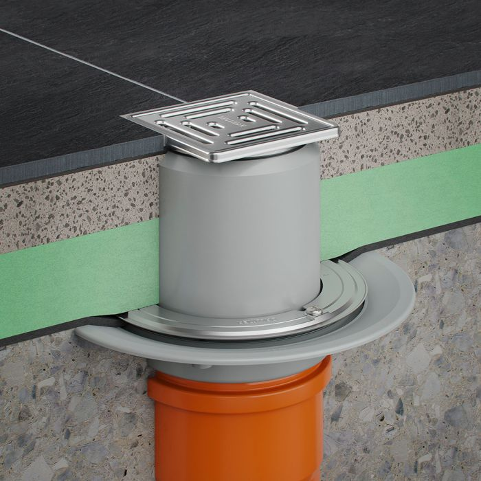 Floor drains: Modular systems and drain assemblies