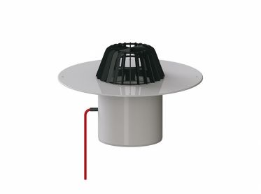 roof drain type 62 H PVC, heated, DN 150