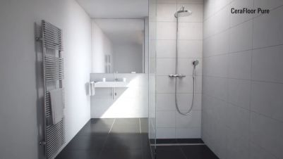 Installation: CeraFloor Pure + DallFlex shower channels